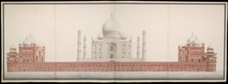 Taj Mahal, Agra, with the mosque, assembly-hall, and mausoleum